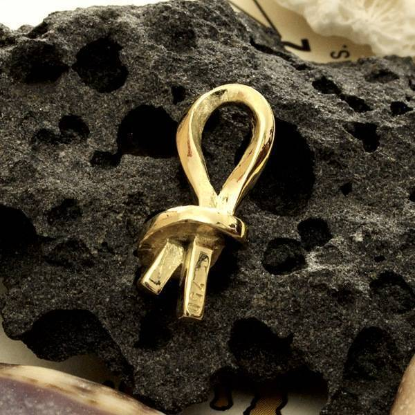 Knoten Anhänger massiv Gold