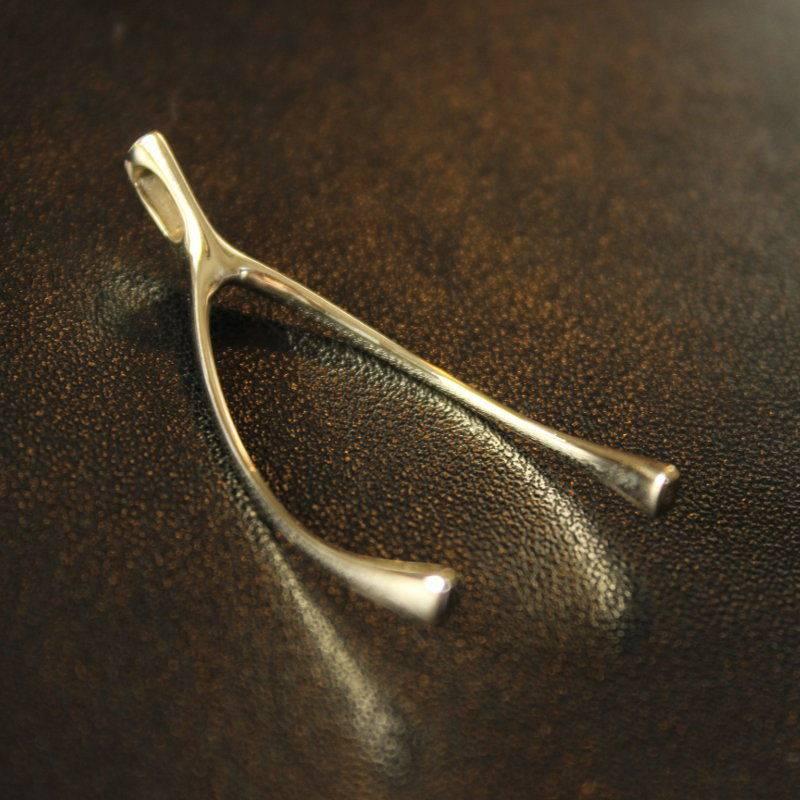 Wishbone pendant Gold Foto