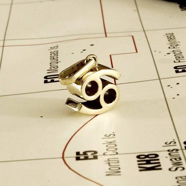 Zodiac Cancer pendant solid Gold Foto