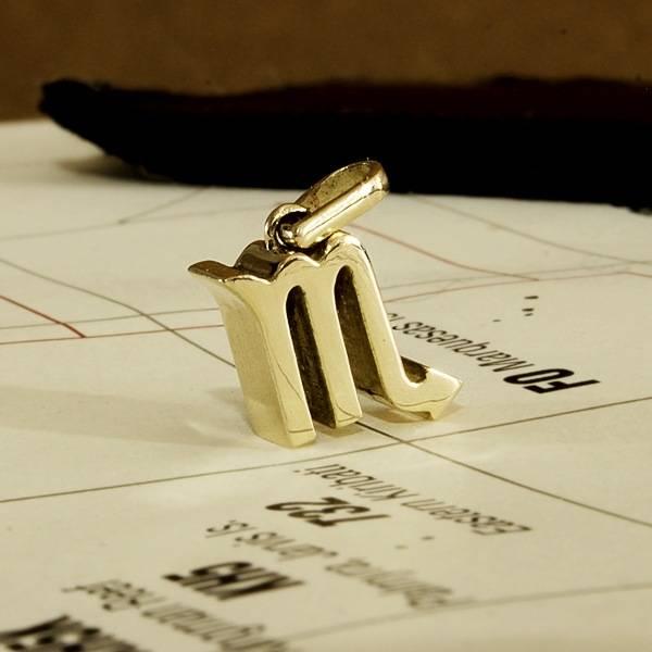 Zodiac Scorpio pendant solid Gold Foto